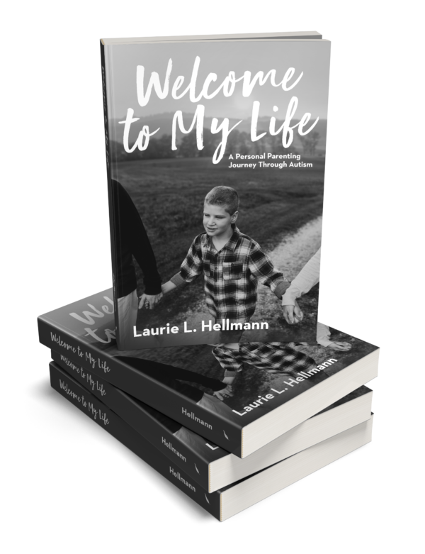 Welcome to My Life: A Personal Parenting Journey Through Autism book stack